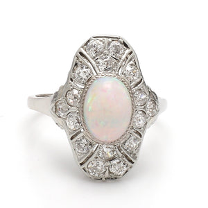 2.00ct Oval Cabochon Cut Opal Ring