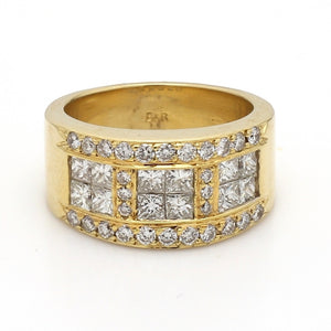 SOLD - 1.10ctw Princess and Round Brilliant Cut Diamond Band