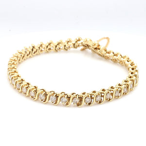 SOLD - 2.70ctw Round Brilliant Cut Diamond Tennis Bracelet