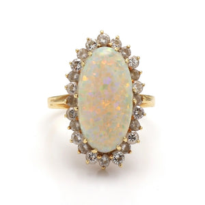 5.80ct Oval Cut Opal Ring