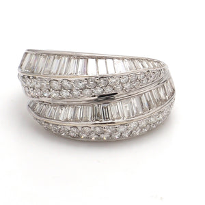 2.20ctw Baguette and Round Brilliant Cut Diamond Band