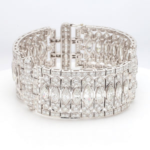 21.00ctw Marquise and Round Brilliant Cut Diamond Bracelet