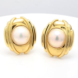15mm Mabe Pearl Earrings