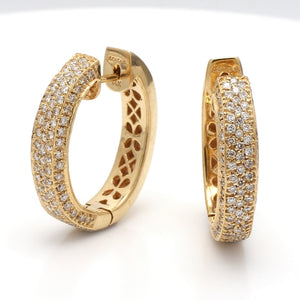 Sonia B., 1.75ctw Round Brilliant Cut Diamond Hoop Earrings