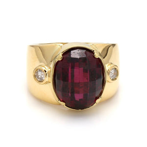 10.54ct Oval Cut, Faceted Tourmaline Ring
