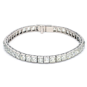 23.27ctw French Cut Diamond Tennis Bracelet
