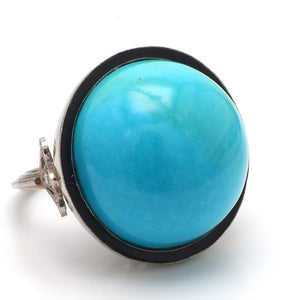 SOLD - 42.62ct Round, Cabochon Cut Turquoise Ring