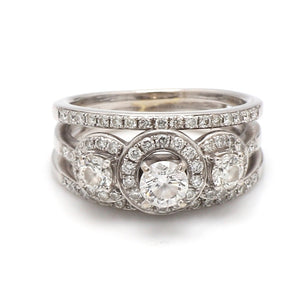 0.34ct F SI2 Round Brilliant Cut Diamond Ring - IGI Certified