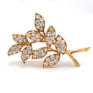 SOLD - Oscar Heyman, 5.00ctw Round Brilliant Cut Diamond Brooch