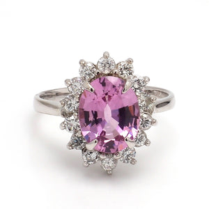 2.55ct Oval Cut Pink Spinel Ring