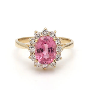 2.47ct Oval Cut Pink Spinel Ring