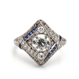 0.95ct Old European Cut Diamond Ring