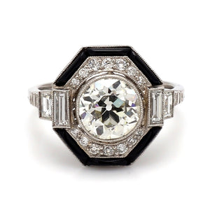 1.91ct Old European Cut Diamond Ring
