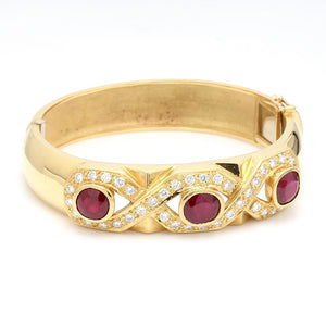 Hauer, 6.78ctw Oval and Cushion Cut Ruby Bracelet