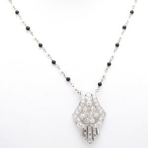 1.37ctw Baguette and Round Brilliant Cut Diamond Necklace
