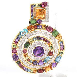 Bellarri, Mixed Gemstone and Diamond Pendant - Dutchess
