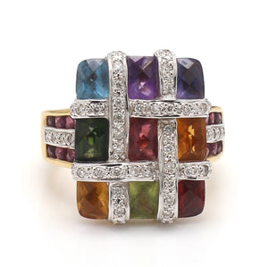 Bellarri, Mixed Gemstone and Diamond Ring - Mosaic