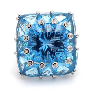 Bellarri, Blue Topaz and Diamond Ring - Hava