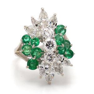 5.47ctw Emerald and Diamond Ring