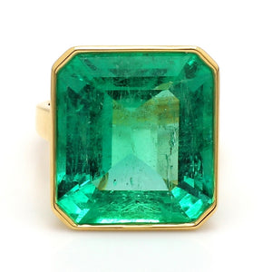 17.01ct Emerald Cut, Colombian Emerald Ring - AGL Certified