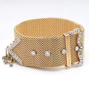 24mm Wide, Diamond Buckle Bracelet