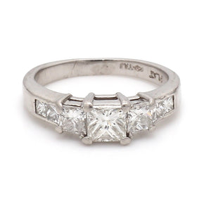 0.65ct Princess Cut Diamond Ring
