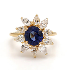 1.80ct Round Brilliant Cut Sapphire Ring - AGL Certified