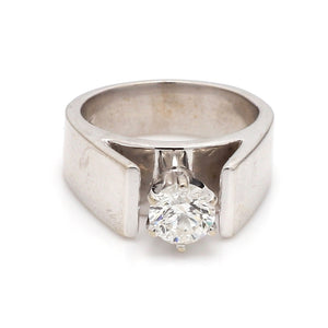 0.71ct G I1 Round Brilliant Cut Diamond Ring - EGL Certified
