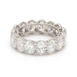 7.53ctw Oval Cut Diamond Eternity Band