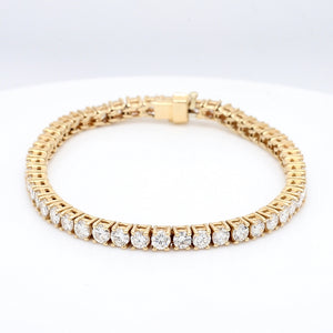 SOLD - 8.00ctw Round Brilliant Cut Diamond Tennis Bracelet