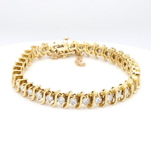 4.25ctw Round Brilliant Cut Diamond Tennis Bracelet