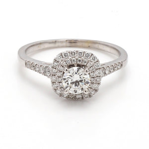0.68ct G SI1 Round Brilliant Cut Diamond Ring - GSI Certified