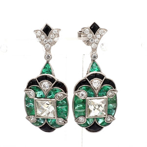 2.22ctw French Cut Diamond Earrings