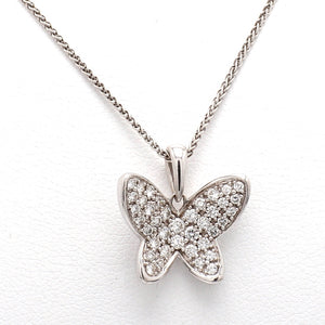 0.50ctw Round Brilliant Cut Diamond Butterfly Pendant