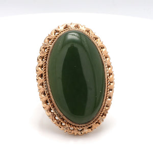 6.00ct Oval Cut Jade Ring