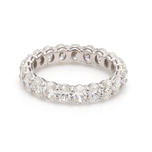 3.31ctw Oval Cut Diamond Eternity Band