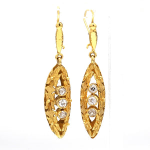 0.50ctw Old Mine Cut Diamond Earrings