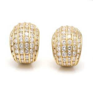 3.00ctw Round Brilliant Cut Diamond Earrings