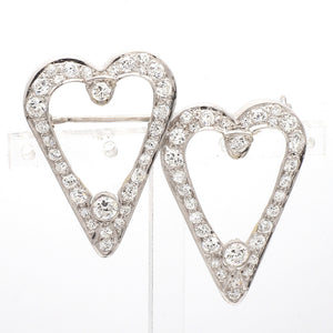 2.40ctw Old European Cut Diamond Brooch