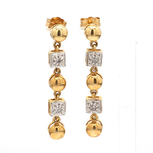 0.10ctw Round Brilliant Cut Diamond Earrings