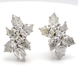 12.27ctw Pear Shaped Diamond Earrings