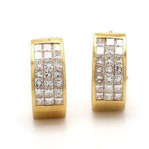 2.20ctw Princess Cut Diamond Earrings