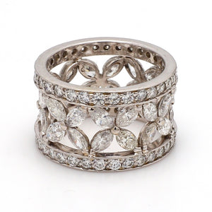 4.86ctw Marquise and Round Brilliant Cut Diamond Band