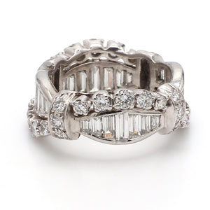3.00ctw Baguette and Round Brilliant Cut Diamond Band