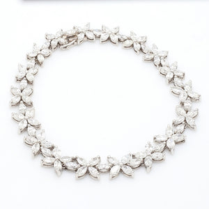 12.33ctw Marquise Cut Diamond Bracelet