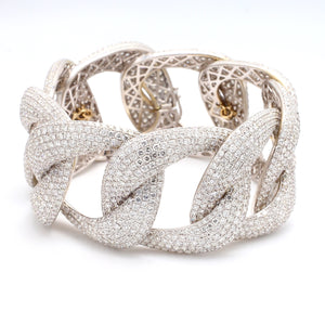SOLD - 47.77ctw Pave Diamond Link Bracelet