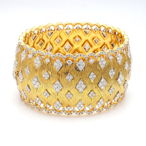 13.76ctw Round Brilliant Cut Diamond Bracelet