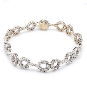 4.51ctw Round Brilliant Cut Diamond Bracelet
