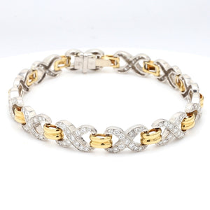 SOLD - 3.00ctw Round Brilliant Cut Diamond Bracelet
