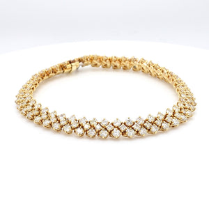 7.20ctw Round Brilliant Cut Diamond Bracelet